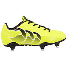 Buy Canterbury Children's Speed Club 6 Stud Rugby Boots, Lime/Black Online at johnlewis.com