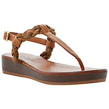 Buy Bertie Jar Leather Flat Sandals Online at johnlewis.com