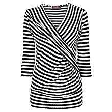 Buy Phase Eight Deavuville-Collection Caitlin Stripe Wrap Top, Navy/Ivory Online at johnlewis.com