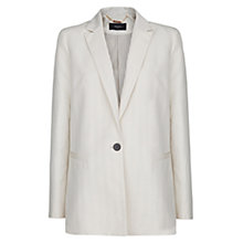 Buy Mango Linen Cotton-Blend Blazer, Light Beige Online at johnlewis.com