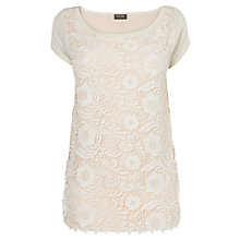 Buy Phase Eight Montpellier Lottie Lace Knit Top, Bordeaux Online at johnlewis.com