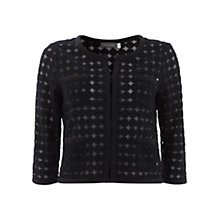 Buy Mint Velvet Circle Embroidered Cardigan, Black Online at johnlewis.com