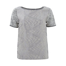 Buy Mint Velvet Jacquard Sweat Top, Grey Online at johnlewis.com