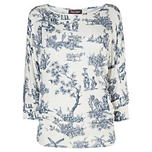 Buy Phase Eight Deauville-Collection Campagne Dana Top, Ivory/Navy Online at johnlewis.com