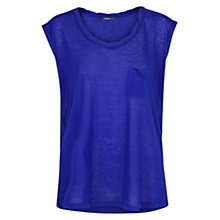 Buy Mango Pocket T-Shirt, Bright Blue Online at johnlewis.com