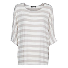 Buy Mango Striped Mono T-Shirt, Light Beige Online at johnlewis.com
