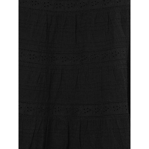 Buy Phase Eight Montpellier Tanya Tiered Embroidered Skirt, Black Online at johnlewis.com