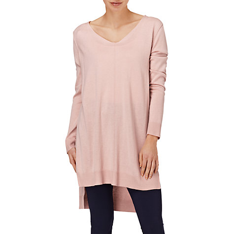 Buy Phase Eight Montpellier Savanna Step Hem Tunic, Dusty Pink Online at johnlewis.com