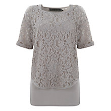 Buy Mint Velvet Lace Layer T-Shirt Online at johnlewis.com
