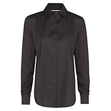 Buy Mango Cotton Fitted Shirt, Black Online at johnlewis.com