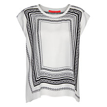 Buy Mango Monochrome Print Blouse, Natural White Online at johnlewis.com