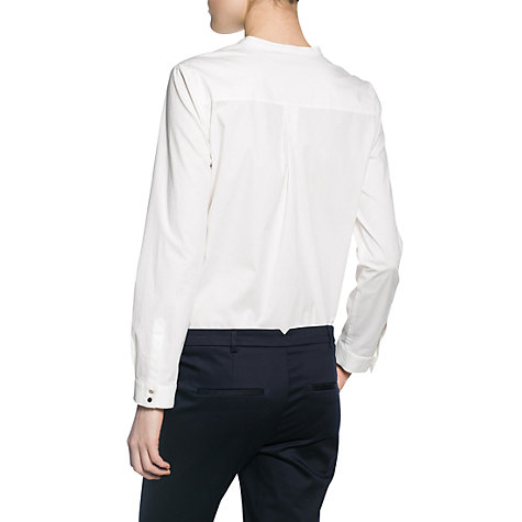 Buy Mango Bib Detail Shirt, White Online at johnlewis.com