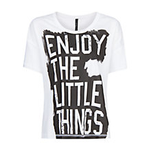 Buy Mango Little Things Printed T-Shirt, White Online at johnlewis.com