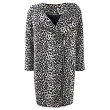 Buy Mint Velvet Leopard Print Coat, Black/Cream Online at johnlewis.com