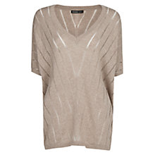Buy Mango Striped Designed Jumper, Dark Grey Online at johnlewis.com