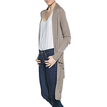 Buy Mango Waterfall Cardigan, Dark Grey Online at johnlewis.com