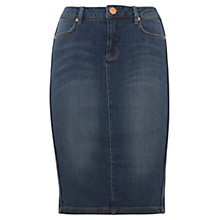 Buy Mint Velvet Denim Pencil Skirt, Indigo Online at johnlewis.com