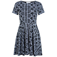 Buy Miss Selfridge Ikat Skater Dress, Grey Online at johnlewis.com