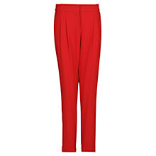 Buy Mango Pleat Baggy Trousers, Bright red Online at johnlewis.com