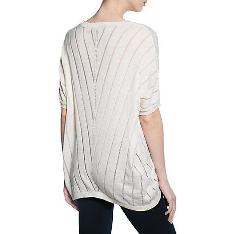 Buy Mango Striped Design Jumper, Natural White Online at johnlewis.com