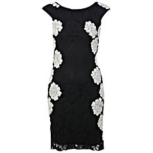 Buy Miss Selfridge Monochrome Lace Dress, Black Online at johnlewis.com