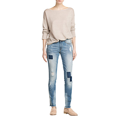 Buy Mango Super Slim Fit Arizona Jeans, Light Pastel Blue Online at johnlewis.com