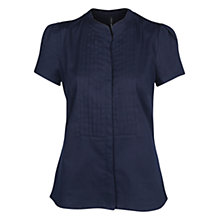Buy Mango Tailored Cotton Shirt, Navy Online at johnlewis.com