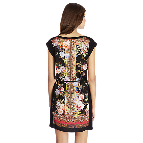 Buy Oasis Scarf Print T-shirt Dress, Multi Black Online at johnlewis.com