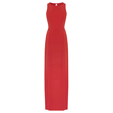 Buy Warehouse Twist Back Maxi Dress, Orange Online at johnlewis.com
