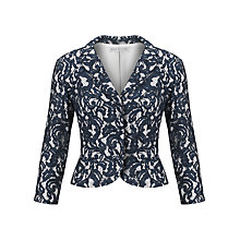 Buy Gina Bacconi Lace Over Jersey Jacket, Navy Online at johnlewis.com