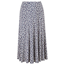 Buy Viyella Olive Print Jersey Skirt, Navy Online at johnlewis.com