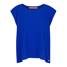 Buy Mango Textured Blouse, Bright Blue Online at johnlewis.com