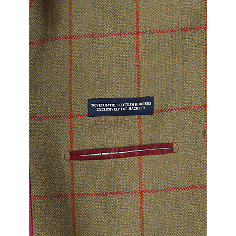 Buy Hackett London Lovat Tweed Blazer, Olive Online at johnlewis.com