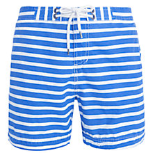 Buy Polo Ralph Lauren Horizontal Stripe Swim Shorts, Blue/White Online at johnlewis.com