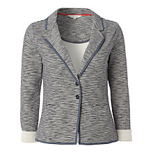 Buy White Stuff Libby Striped Jersey Blazer, Navy Online at johnlewis.com