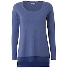 Buy White Stuff Sasha Jersey Top, Blue Online at johnlewis.com