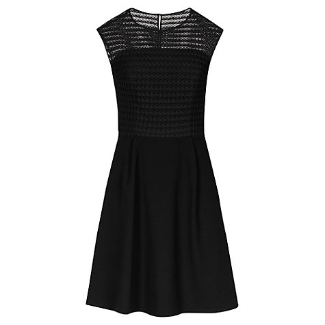 Buy Reiss Lace Bodice Maya Dress, Black Online at johnlewis.com