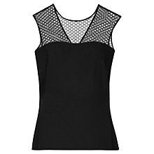 Buy Reiss Lace Honeycomb Bee Top, Black Online at johnlewis.com