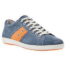 Buy Dune Topple Stripe Suede Sneakers, Blue Online at johnlewis.com