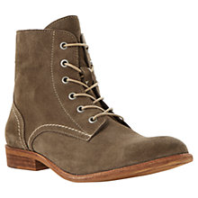 Buy Dune Campbell Lace Up Boots, Taupe Online at johnlewis.com