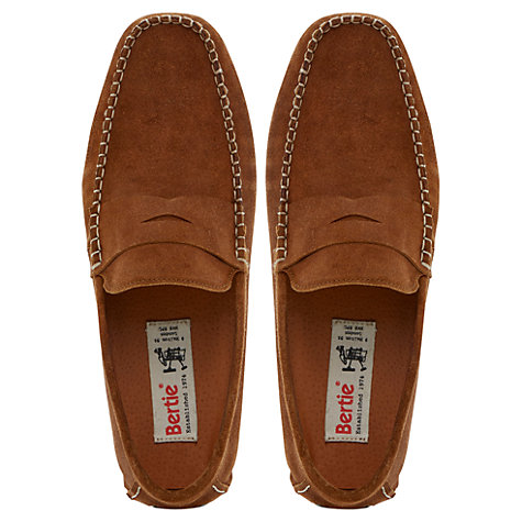 Buy Bertie Benz Saddle Driver Shoes, Tan Online at johnlewis.com