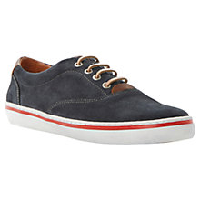 Buy Dune Truant Suede Plimsolls, Navy Online at johnlewis.com