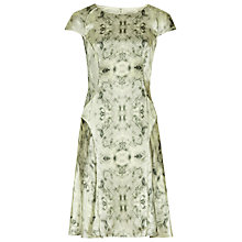 Buy Reiss Skala Print Bowie Scratch Printed Dress, Mint Online at johnlewis.com