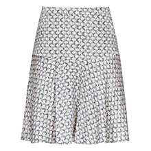Buy Reiss Alise Printed Frill Skirt, Grey Online at johnlewis.com