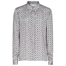 Buy Reiss Link Print Sasha Shirt, Grey Online at johnlewis.com