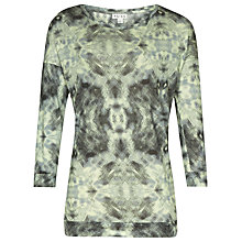 Buy Reiss Oversized Printed Vita Top, Lime Sorbet Online at johnlewis.com