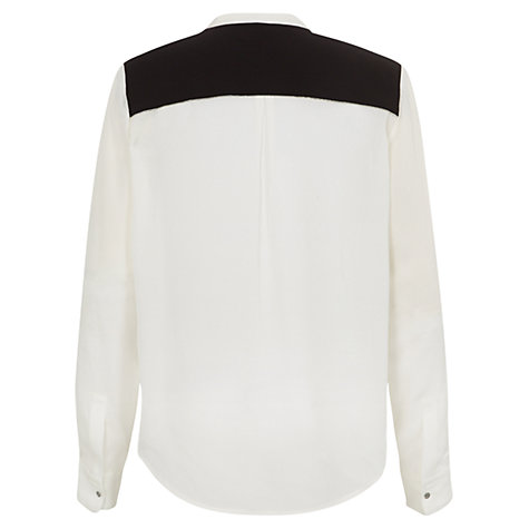 Buy Fenn Wright Manson Courtney Silk Blouse, Black/Chalk Online at johnlewis.com