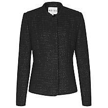 Buy Reiss Check Print Tailored Juliette Jacket, Night Sky Online at johnlewis.com