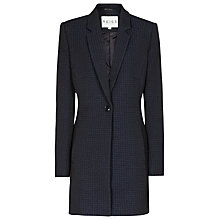 Buy Reiss Textured Navara Overcoat, Navy Online at johnlewis.com