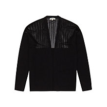 Buy Reiss Open Weave Ice Cardigan, Black Online at johnlewis.com